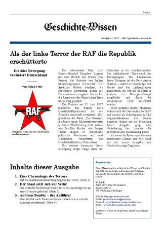 Ausgabe: Der rote Terror der RAF