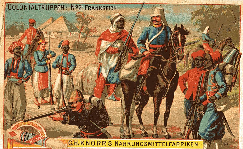 Bild französischer Kolonialtruppen