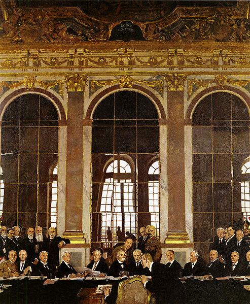 Unterzeichnung des Versailler Vertrags
