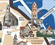 Stadtplan Haus der Geschichte Dinkelsbühl