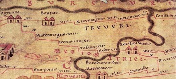 Peutinger-Karte - Eifelstrecke