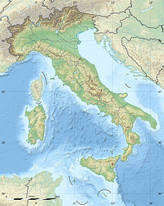 Italy relief location map