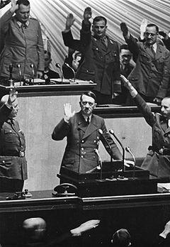Rede Hitlers vor dem Reichtstag