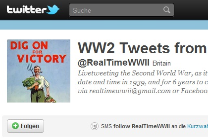 Den zweiten Weltkrieg auf Twitter miterleben