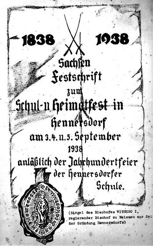 Festschrift der Stadt Hennersdorf