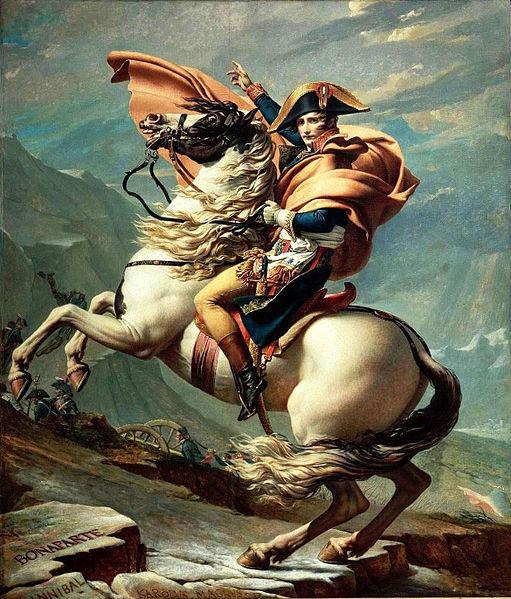 Napoleon beim Ueberschreiten der Alpen