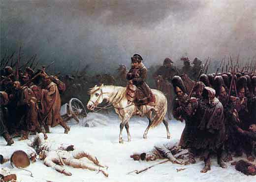 Napoleons Rueckkehr vom Russlandfeldzug
