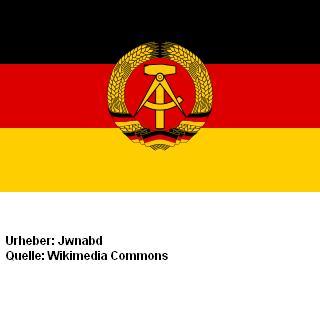 Bild DDR-Flagge