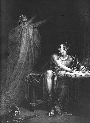Caesar erscheint Brutus als Geist