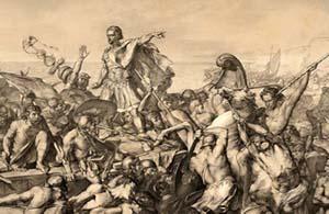 Caesar greift Britannien an