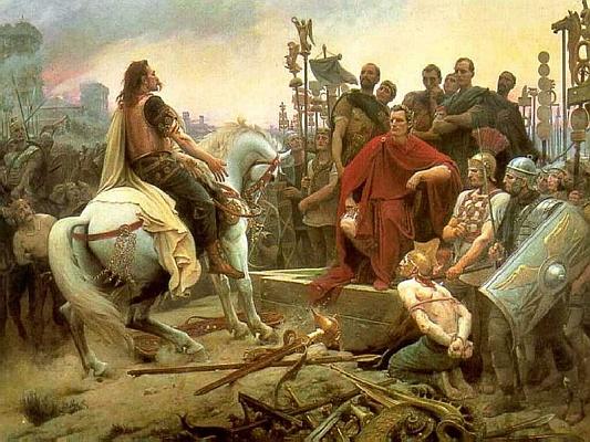 Caesar und Vercingetorix