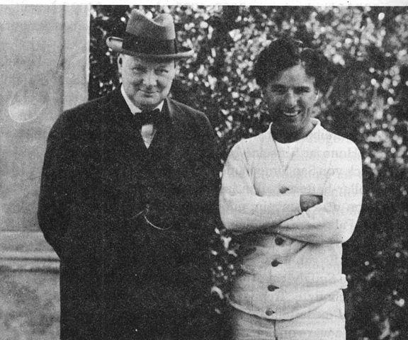 Charlie Chaplin und Churchill