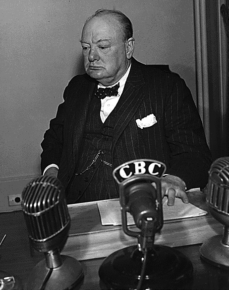 Churchill in Radiostation