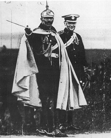 Churchill mit dem deutschen Kaiser Wilhelm II