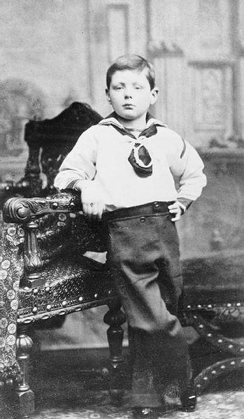 Churchill mit sieben Jahren
