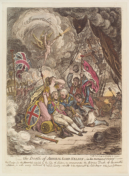 440px-The death of Admiral Lord Nelson - in the moment of victory by James Gillray