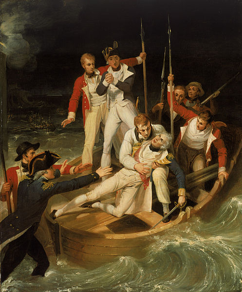 497px-Sir Horatio Nelson when wounded at Teneriffe