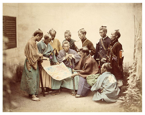 603px-Satsuma-samurai-during-boshin-war-period