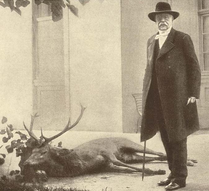 Bismarck bei der Jagd