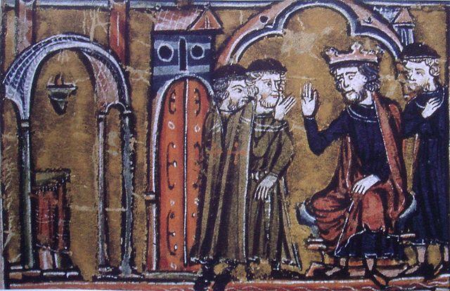 640px-BaldwinII ceeding the Temple of Salomon to Hugues de Payns and Gaudefroy de Saint-Homer