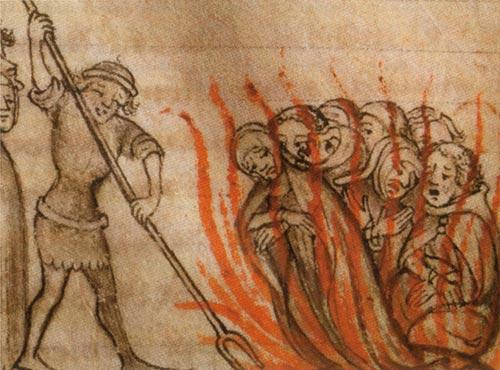 Verbrennung von Templern