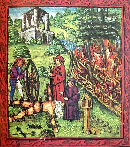 folter-Darstellung einer Folterung im Mittelalter