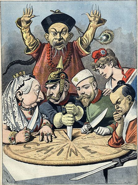 Imperialismus in China Karikatur