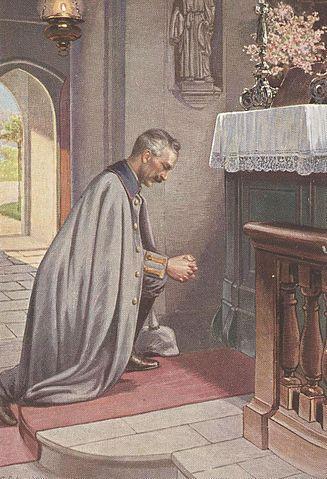 Wilhelm betend im ersten Weltkrieg Propaganda-Postkarte