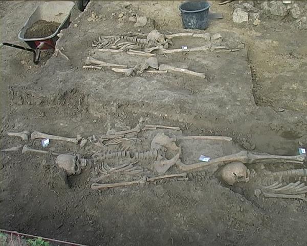 Skelett in der Schmidmühle - Archälogoie Bajuwaren