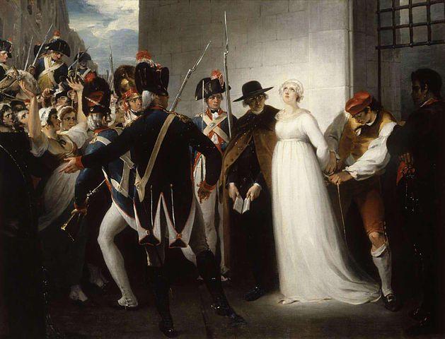 Marie Antoinette auf dem Weg zu ihrer Hinrichtung