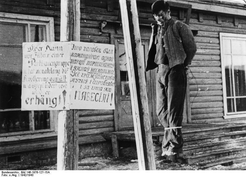 Hinrichtung von Partisanen - Minsk 1942/1943