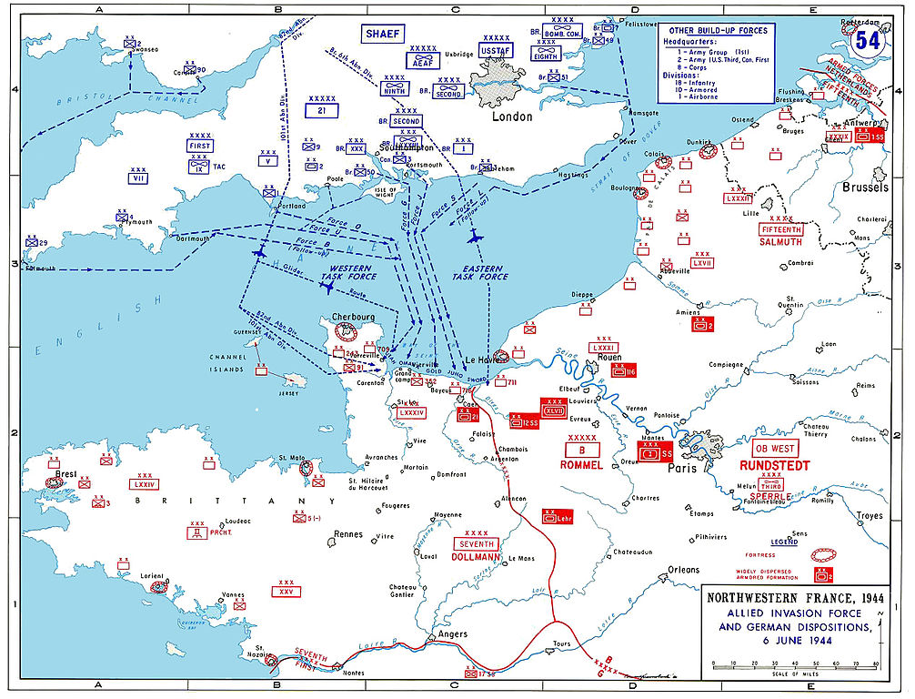 Karte alliierte Invasion