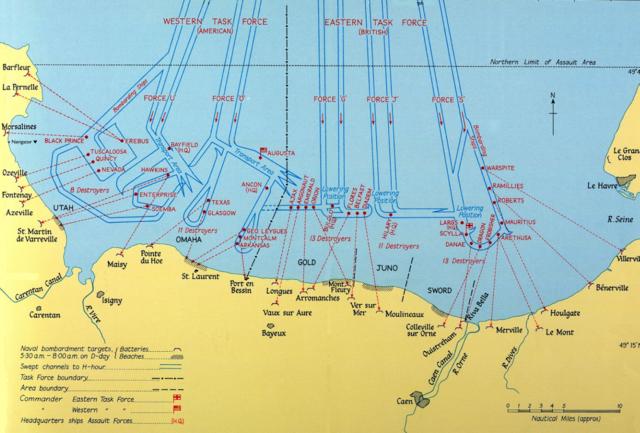 Karte der Bombadierungen