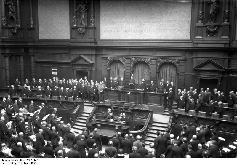 Das Parlament/Plenum während der Weimarer Republik