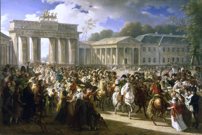 Napoleon in Berlin vor dem Brandenburger Tor