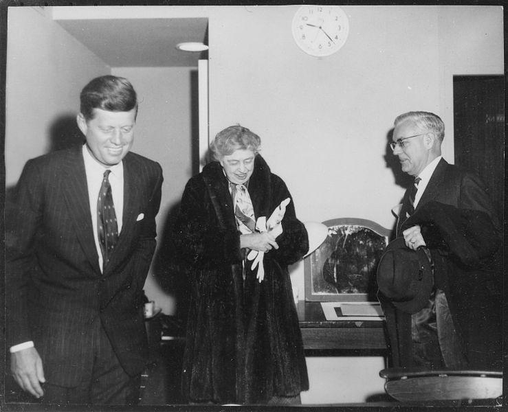 Kennedy-mit-Eleonor-Roosevelt-um-1960