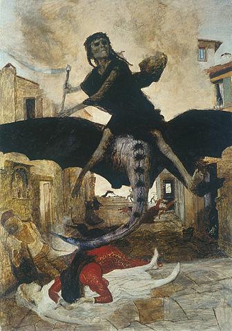 Der schwarze Tod - Gemälde von Arnold Böcklin (1898)