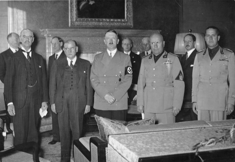 Staatschefs beim Münchener Abkommen