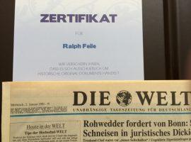 Geschenke zu allen Anlässen: Historische Zeitungen
