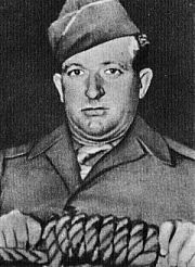 John C. Woods holding a noose