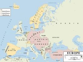 Die politischen Verhältnisse in Europa vor Beginn Krieges