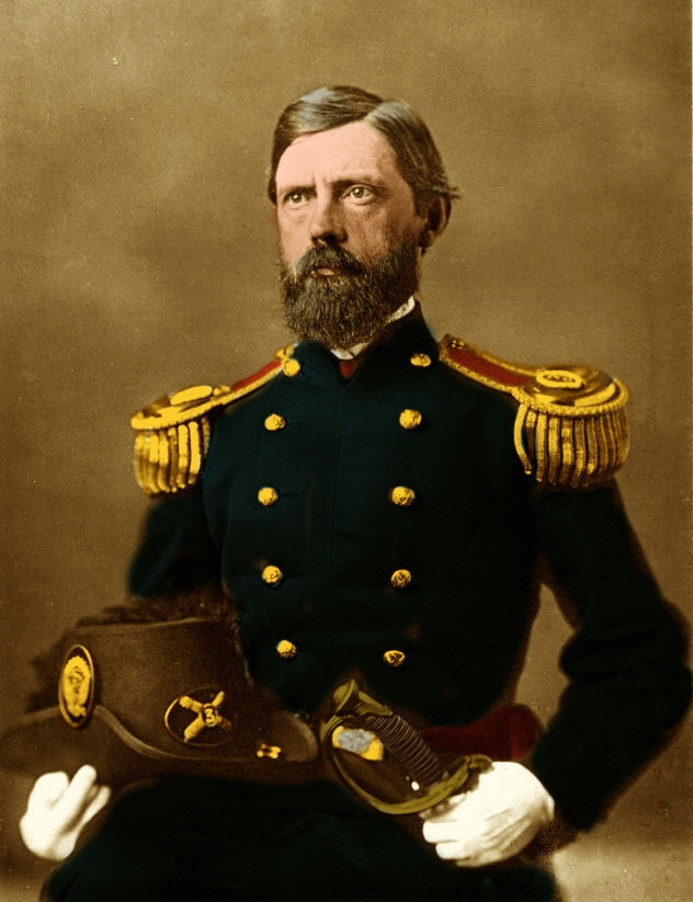 Generalmajor John Fulton Reynolds colored Sepia