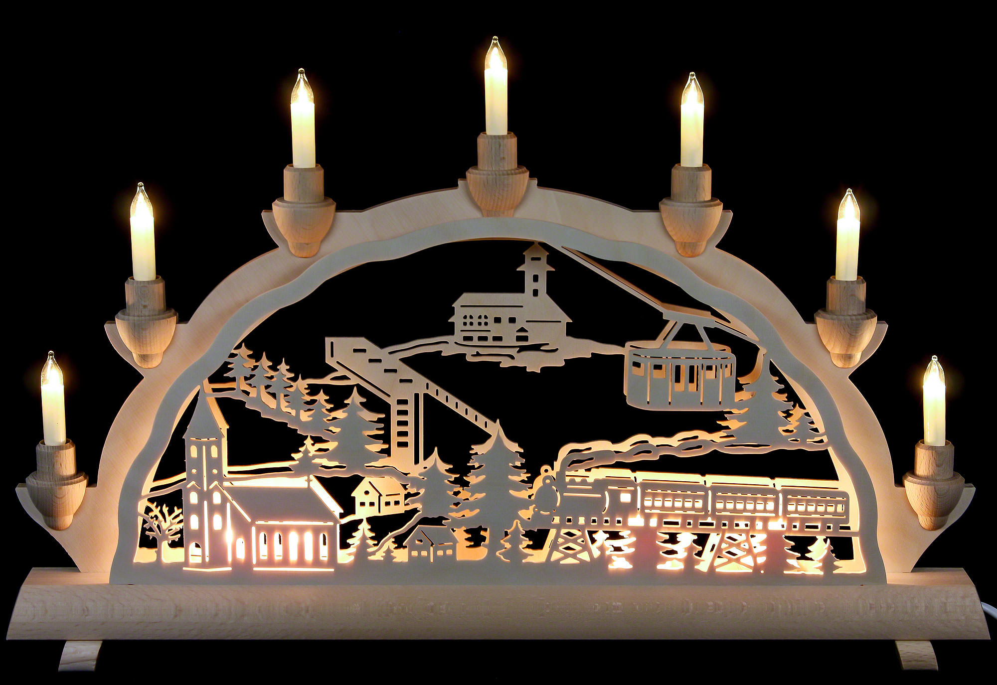3D-Doppelschwibbogen-Erzgebirge Palast