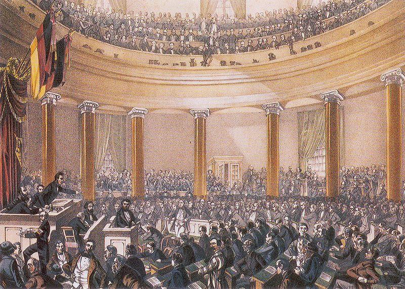 Versammlung in der Frankfurter Paulskirche