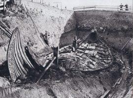 Ausgrabung des Oseberg-Schiffs