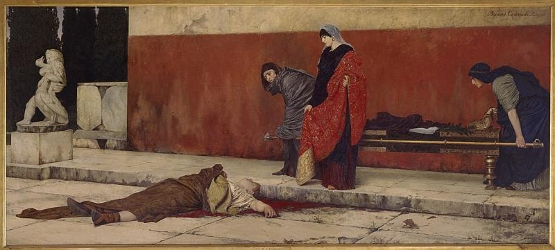 Stadtmuseum Simeonstift Trier: Wassilij Sergejewitsch Smirnow, Neros Tod, Öl auf Leinwand, 1888, © Staatliches Russisches Museum, St. Petersburg.