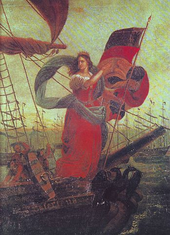 Die Germania abgebildet mit der Reichsflotte