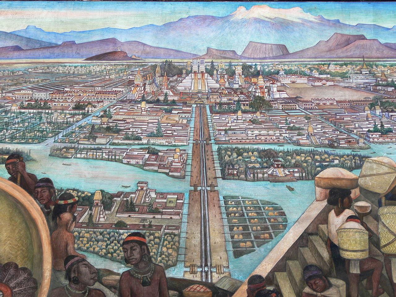 Tenochtitlan war zur Zeit der Konquistadoren eine der größten, schönsten und reichsten Städte der Welt - heute ist Tenochtitlan die mexikanische Hauptstadt Mexiko-Stadt