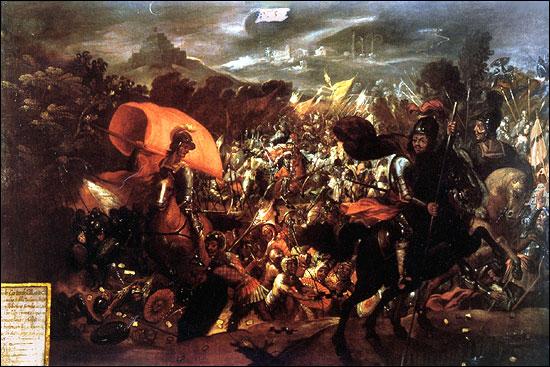 La noche triste - die traurige Nacht bei der hunderte Spanier bei der Flucht aus Technotitlan ihr Leben lassen mussten.