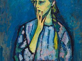 Alexej von Jawlensky, Mädchenbildnis, 1909, Öl auf Leinwand, 92 x 67,2 cm, Museum Kunstpalast, Düsseldorf, Bild von Situation Kunst - für Max Imdahl